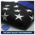 Thin Blue Line American Police Flag 3x5 ft: Made in USA - Embroidered Stars...