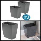 Rectangular Wastebasket Bathroom Trash Can Home office Storage bin Pack of 2 NEW