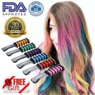 Temporary Hair Chalk Comb Color Built In Sealant For Kids Dyeing Party New