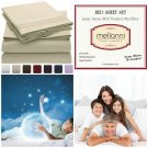 Brushed Microfiber 1800 Bedding Stain Resistant Hypoallergenic Queen, Beige New