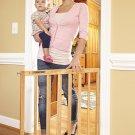 Stork Craft Easy Walk-Thru Wooden SafetyGate,Natural Wall Mount Hardware Include