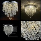 Modern LED Pendant Lamp Ceiling Crystal Ball Light Fixture Lighting Chandelier