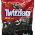TWIZZLERS NIBS Candy, Black Licorice 6 Ounce Bag (Pack of 12)