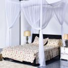 Post Bed Canopy 4 Corner Mosquito Net Netting Bedding Full Queen King Size white