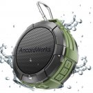 Bluetooth Shower Speaker Water Resistance 5W Driver 23Hours Playtime/Suction Cup