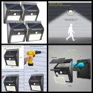 Outdoor Wireless Solar Lights Waterproof Motion Sensor wall mount Security Light