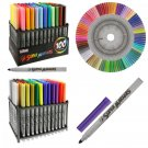 Universal Bullet Point Tips for Fine and Bullet Lines - Bold Vibrant Colors New