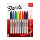 New Sharpie Permanent Markers, Ultra Fine Point, Assorted Ink Colors, Pack of 8