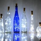 6 Pack 20-LEDS Spark I Wine Bottle Light, AnSaw Cork Shape Battery Copper...