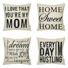 4 Packs Hippih Throw Pillow Cases - Cotton Linen Sofa & Bed Home Decor...