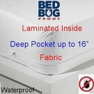 Twin Size Soft Luxurious Fabric Bed Bug & Dust Mite Control Extra Long...