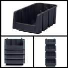 Plastic Storage Bin Stacking Nesting Home garage Tools Organizer Case of 10 new