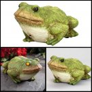 Bits and Pieces - Frog Motion Sensor Statue Weather Resistant, Hand-painted...
