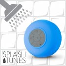 Waterproof Bluetooth Hands-Free Shower Speaker/Built-In Mic & Suction Cup Blue