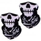 Motorcycle Face Masks 2 Pieces Xpassion Skull Mask Half for Out Riding Black
