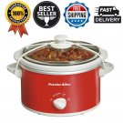 Proctor Silex 1.5 Quart Portable Kitchen Countertop Oval Slow Cooker Cookware US