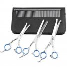 4PCS cat Dog Grooming Scissors Stainless Steel Rounded Tips Curved Shears Comb
