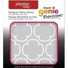Playtex Diaper Genie Expressions Pail Fabric Sleeve, Grey Clovers