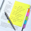 Redi-Tag Divider Sticky Notes 60 Ruled Notes, 4 x 6 Inches, Assorted Neon...
