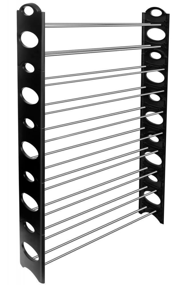 Portable 50 Pair Shoe Rack Storage Organizer Wardrobe Closet Bench Tower 10 Tier