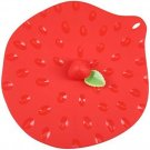 New Nine Inches Round Silicone Air Tight Seal Strawberry Style Food Cover Lid US