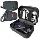 Electronics Accessories Case & Cable Organizer Travel Cord Dark Grey
