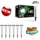 SolarGlow Stainless Steel LED Solar Garden Lights, 15 Lumens, Bright White,...