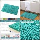 NonSlip Bathroom Rug Shag Shower Mat Machine Washable Bath Mats Soft Microfibers