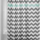 InterDesign Chevron Shower Curtain, 72 x 72-Inch, Gray/Aruba