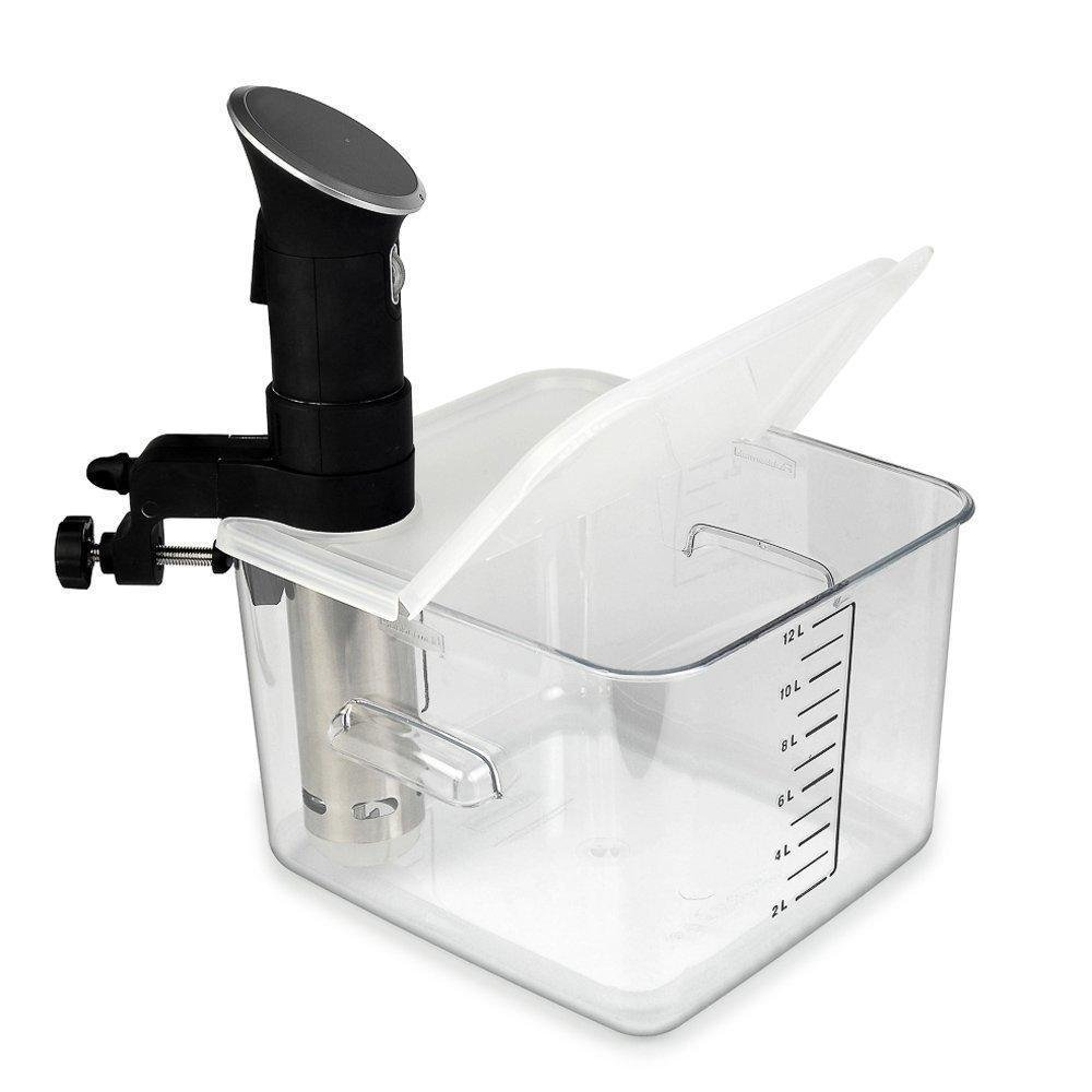 EVERIE Collapsible Hinged Sous Vide Container Lid for Anova Culinary...