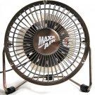 MaxxAir HVDF8 High Velocity 8-Inch Metal 12V Desk Fan with 3 Polypropylene...