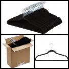 Velvet Suit Hangers Closet Wardrobe Storage Clothes hanger set 50 Pack Black new