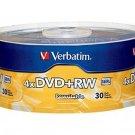 Verbatim 4.7GB 1x- 4x ReWritable Disc DVD plus RW, 30 Spindle 94834