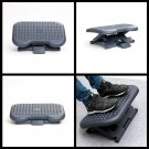Adjustable Height Under Desk Foot Rest Home Office Footrest non Slip Black new