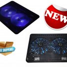 Laptop Cooling Pad with 2 LED Fans by LotFancy - Ultra Slim Portable Chill...
