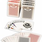 Diamond Playing Cards: 12 Decks (6 Red, 6 Blue) Poker Size Plastic Coated...