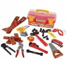 Construction Tool Box for Kids with 31 Pc Pretend Play Tools Toy Set Power