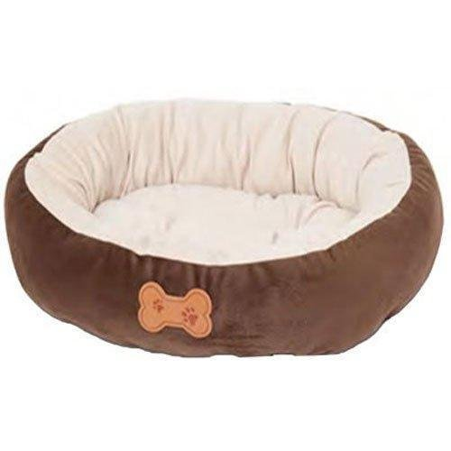Pet Oval Cushion pillow with Bone Applique Dog cat Home Bed Plush Ultra Soft new