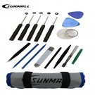 SUNMALL 16 PCS Professional Opening Pry Tools Kit with screwdriver Repair...