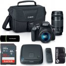 Canon EOS Rebel T6 DSLR Camera+18-55mm IS STM+75-300mm III Lens+CS100 1TB Bundle