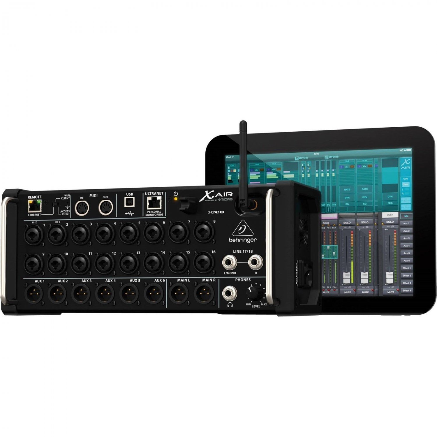 behringer x air xr18 18 input digital mixer for ipad android tablets wifi usb. Black Bedroom Furniture Sets. Home Design Ideas