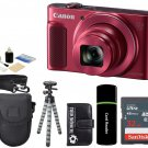 Canon PowerShot SX620 HS 20.2MP 25x Zoom Digital Camera - Red + 32GB Bundle
