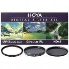 Hoya 46mm UV HMC + Cicular Polarizer CPL + NDx8 3-piece Filter Kit - Brand New