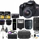 Canon EOS Rebel T6 DSLR Camera +18-55mm IS II +EF 75-300mm III Lens +32GB Bundle