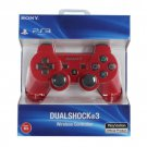 NEW Original Official Genuine Sony PS3 Wireless Dualshock 3 Controller (Red)