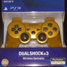 NEW Original Official Genuine Sony PS3 Wireless Dualshock 3 Controller (Gold)
