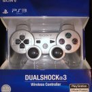 NEW Original Official Genuine Sony PS3 Wireless Dualshock 3 Controller (Silver)