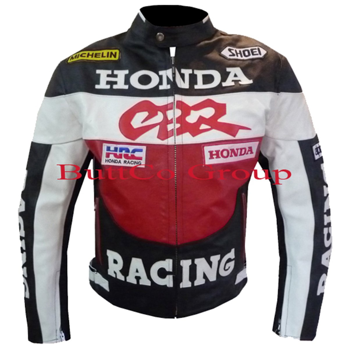 Honda CBR Cowhide Leather Motorcycle Safety Racing Jacket -- Free Shipping