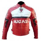 Ducati Red Genuine Cowhide Leather Armour Jacket - Free Shipping