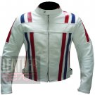New Arrival Pure Cowhide Leather Safety Jacket ... Custom 7288 White Coat